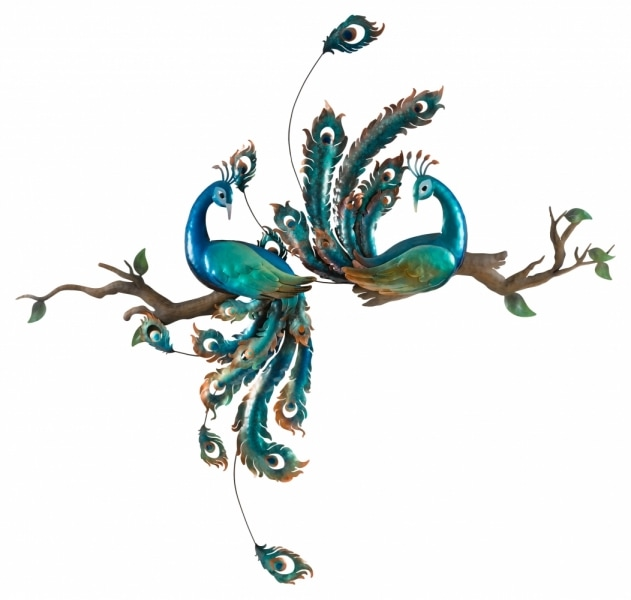 Fine 26 Front peacock decoration product photo