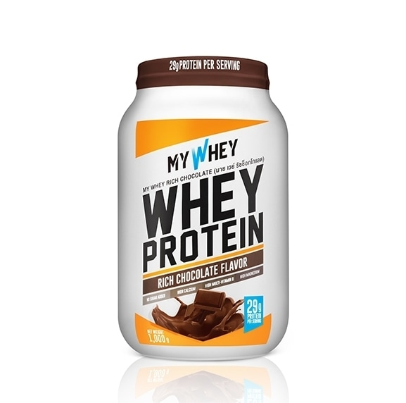 My whey chocolate whey protein powder jar product photo