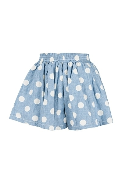 Orami light blue shorts with white polka dots product photo