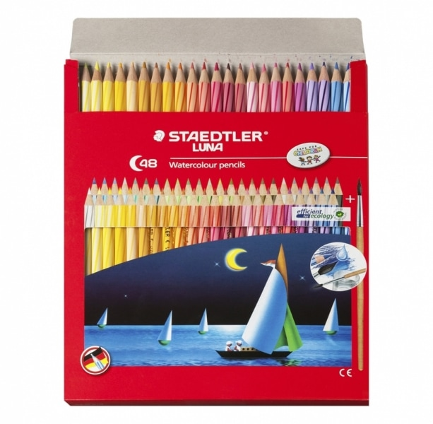 Staedtler Luna 48 watercolour pencils box product photo