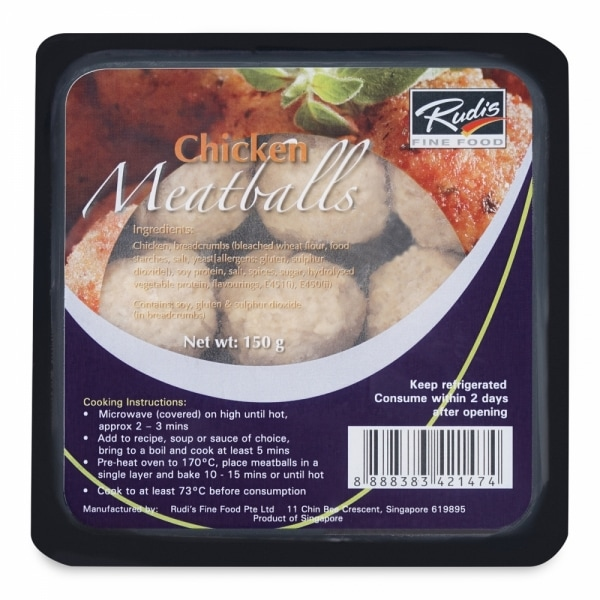 Rudi's Fine Food ready to eat chicken meatballs product photo