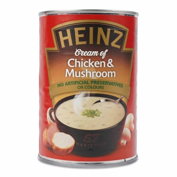 Heinz cream of chicken and mushroom canned soup product photo